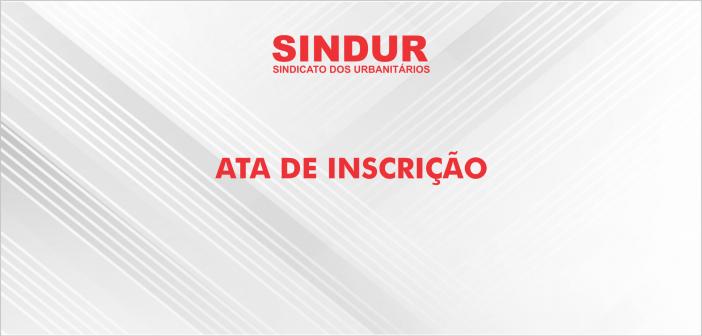 ATA FINAL DE INSCRIÇÃO DE CHAPA