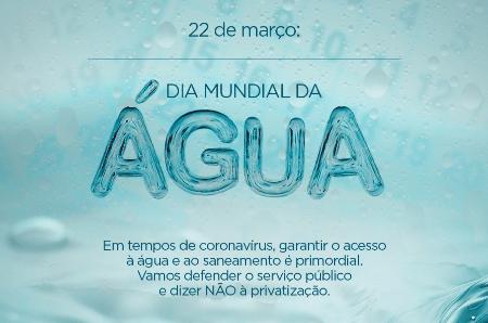 """Artigo: 22 de março, """"Dia Mundial de Água"""", e nós com isso?"""
